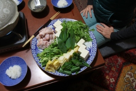blue and white plate Kyoto