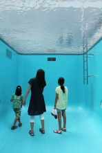 Swimming pool installation at Art Museum Kanazawa Japan