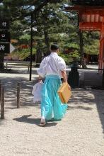 Shrine staff traditional wear Japan