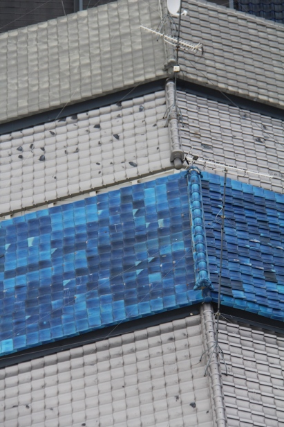 Blue roof tiles Kyoto