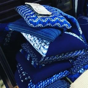 Indigo textile Kyoto