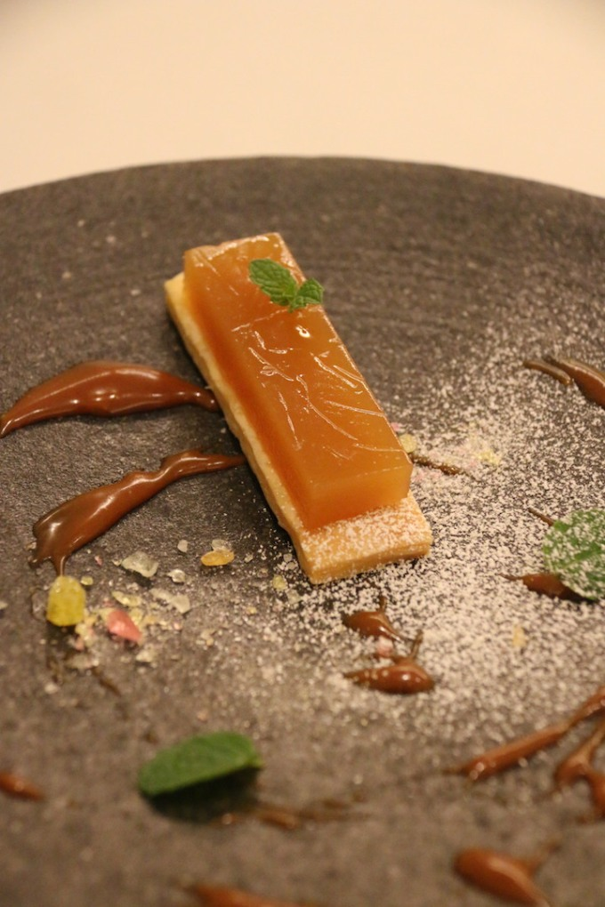 In typical Japanese style Apple mizu yokan makes a very light and delicious tarte tatin